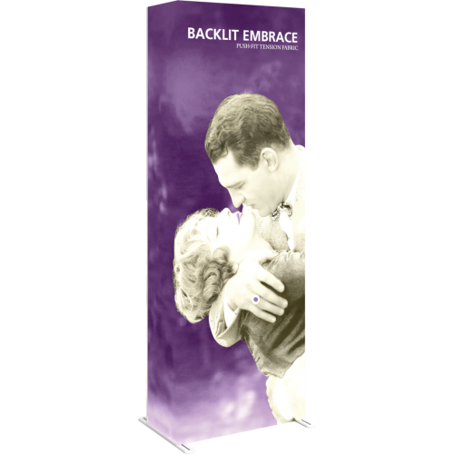 Embrace 2.5ft Backlit Full Height Push-Fit Tension Fabric Display